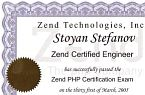 ZCE printed certificate