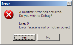 A error and a debug option