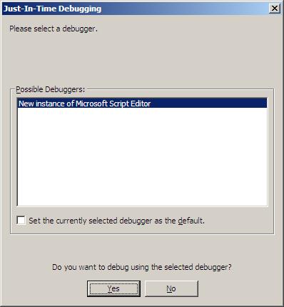 pick a debugger