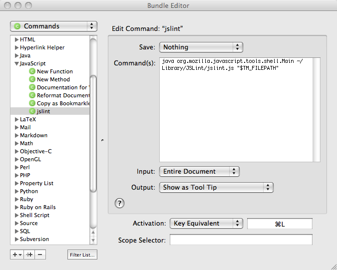 textmate bundle editor